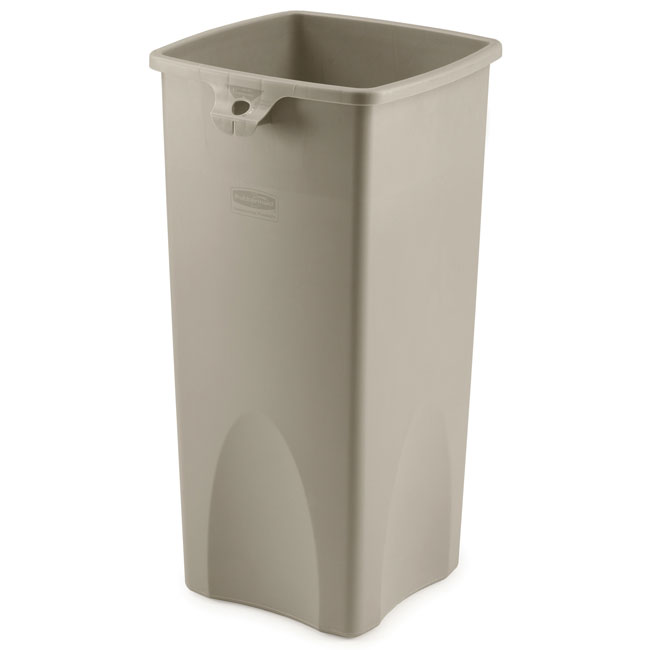 Rubbermaid Commercial Square Container - 23 Gallon - Beige