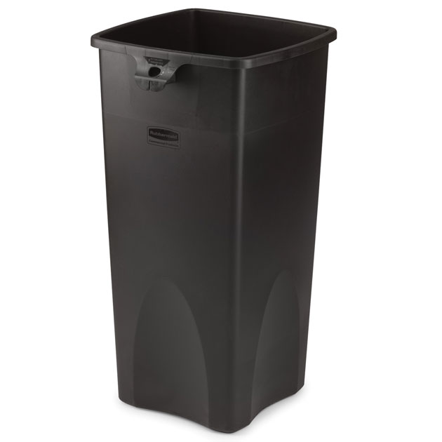 Rubbermaid Commercial Square Container - 23 Gallon - Black