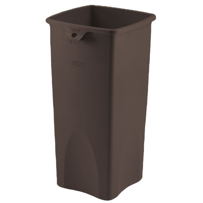 Brown Untouchable Square Trash Can - 23 Gallon