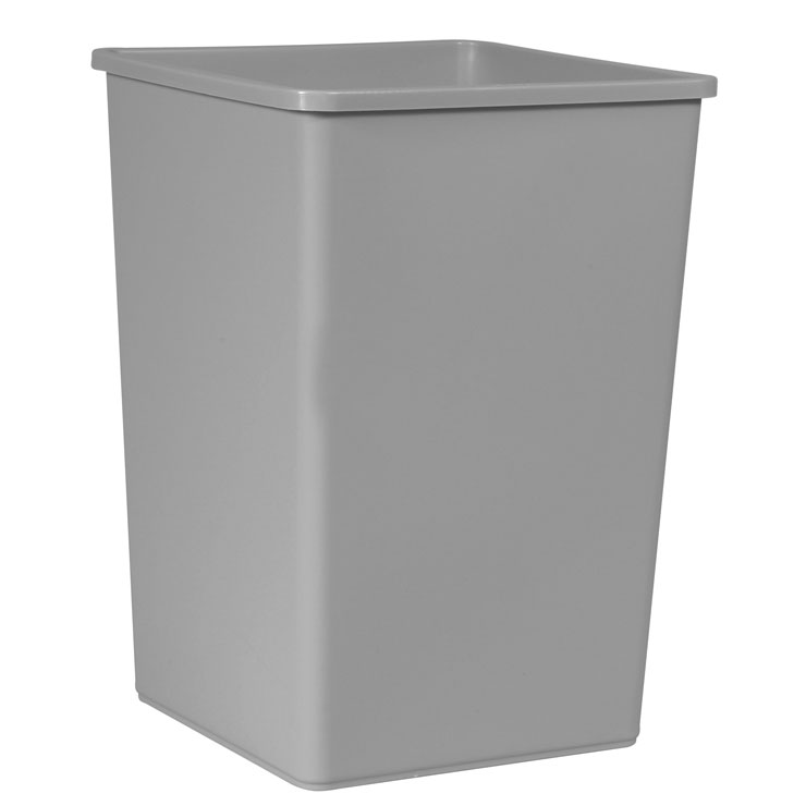 Rubbermaid Commercial Square Container - 35 Gallon - Gray