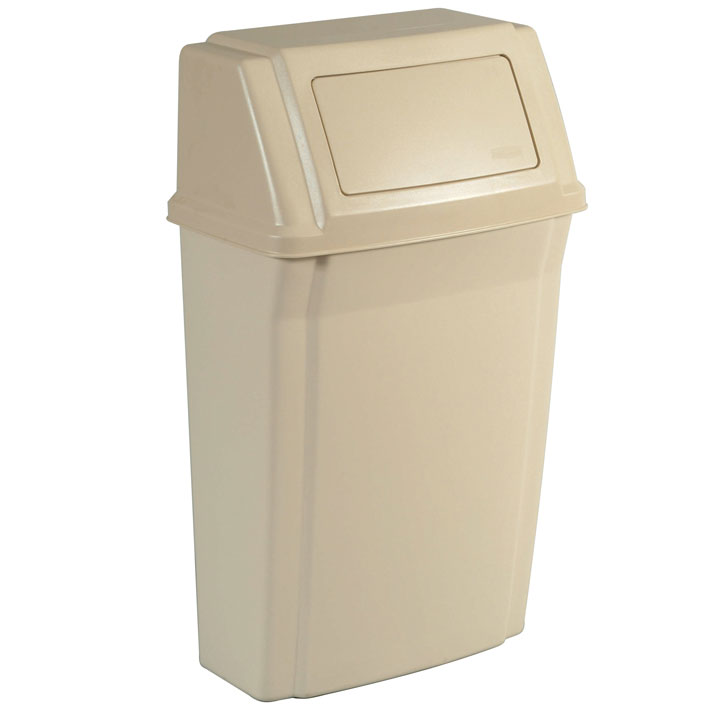 Rubbermaid 7822 Slim Jim 174 Wall Mounted Garbage Container