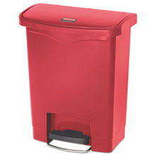 Slim Jim Resin Step-On Waste Container - 8 Gallon