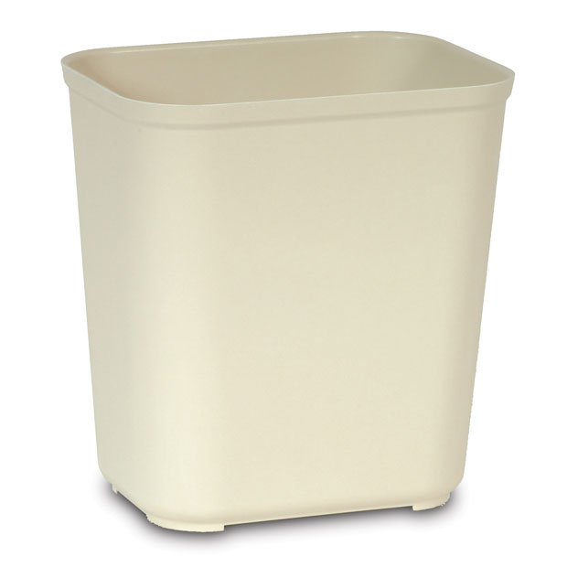 7 Gallon Fire Resistant Fiberglass Waste Container - Beige