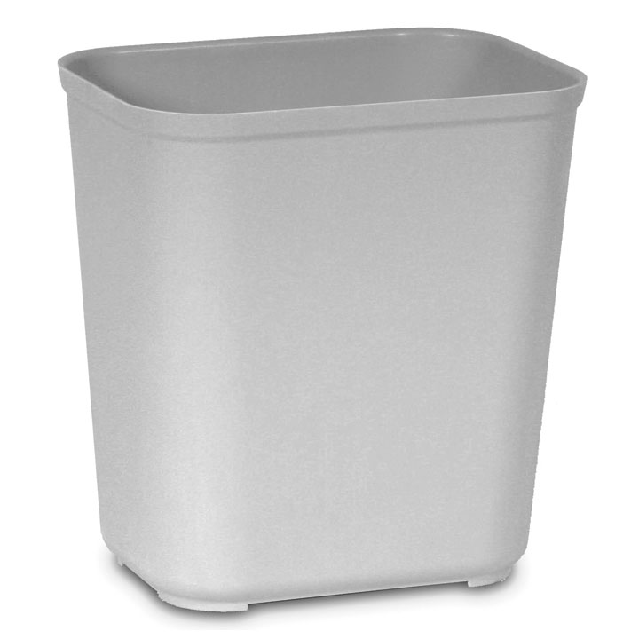 7 Gallon Fire Resistant Fiberglass Waste Container - Gray