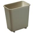 Rubbermaid [2952] Soft Molded Plastic Deskside Wastebasket - Vanity - 8-1/8 Qt. - Beige