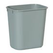 Rubbermaid [2955] Soft Molded Plastic Deskside Wastebasket - Small - 13-5/8 Qt. - Gray