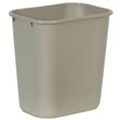 Rubbermaid [2956] Soft Molded Plastic Deskside Wastebasket - Medium - 28-1/8 Qt. - Beige