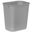 Rubbermaid [2956] Soft Molded Plastic Deskside Wastebasket - Medium - 28-1/8 Qt. - Gray