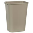 Rubbermaid [2957] Soft Molded Plastic Deskside Wastebasket - Large - 41-1/4 Qt. - Beige