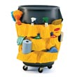 Rubbermaid [2642] Brute® Trash Can Cleaning Tools Caddy Bag - Yellow