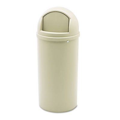 Rubbermaid [8160-88] Marshal® Classic Dome Top Trash Container - 15 Gallon - Beige