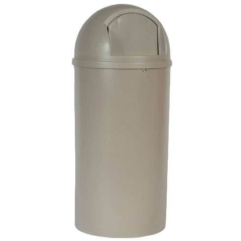 Rubbermaid [8170-88] Marshal® Classic Dome Top Trash Container - 25 Gallon - Beige