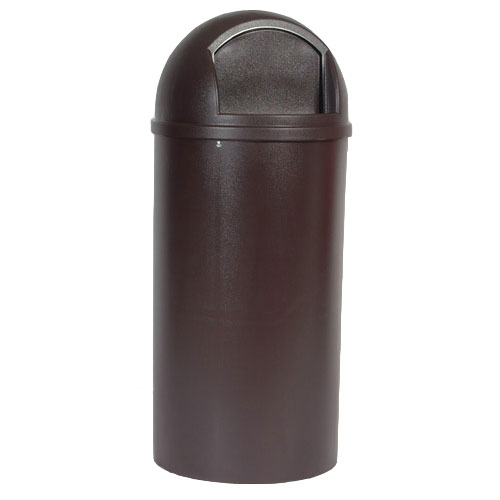 Rubbermaid [8170-88] Marshal® Classic Dome Top Trash Container - 25 Gallon - Brown