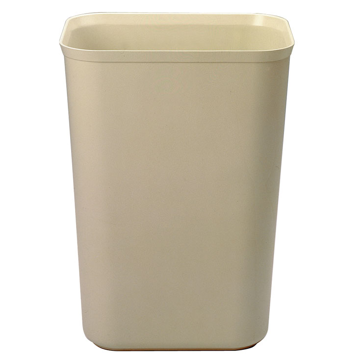 10 Gallon Fire Resistant Fiberglass Waste Container - Beige