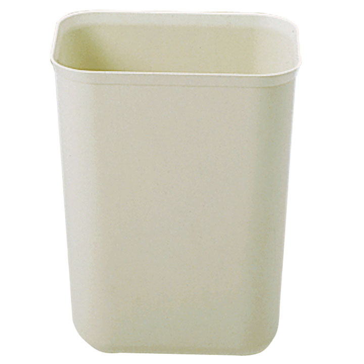 Rubbermaid [2540] Fire Resistant Fiberglass Deskside Wastebasket - Beige - 7 Quart
