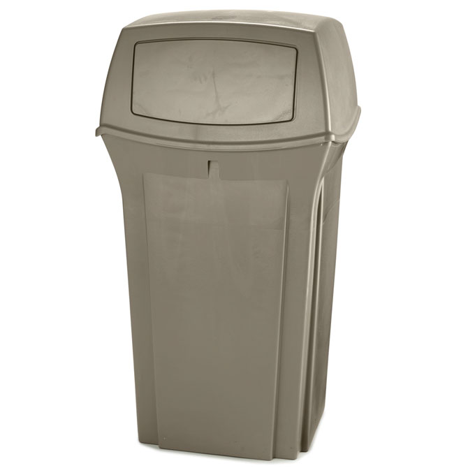Ranger Fire-Safe Waste Container - Beige - 35 Gallon