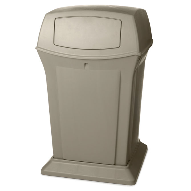 Ranger Fire-Safe Container, Square, Structural Foam, 45 gal, Beige RCP9171-88BEI