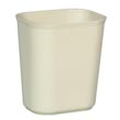 Rubbermaid [2541] Fire Resistant Fiberglass Deskside Wastebasket - Beige - 14 Quart