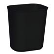 Rubbermaid [2541] Fire Resistant Fiberglass Deskside Wastebasket - Black - 14 Quart