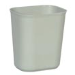 Rubbermaid [2541] Fire Resistant Fiberglass Deskside Wastebasket - Gray - 14 Quart