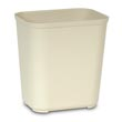 Rubbermaid [2543] Fire Resistant Fiberglass Deskside Wastebasket - Beige - 28 Quart