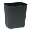 Rubbermaid [2543] Fire Resistant Fiberglass Deskside Wastebasket - Black - 28 Quart