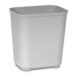 Rubbermaid [2543] Fire Resistant Fiberglass Deskside Wastebasket - Gray - 28 Quart