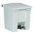 Rubbermaid [6143] Plastic Fire-Safe Step-On Trash Container - White - 8 Gallon