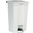 Rubbermaid [6146] Plastic Fire-Safe Mobile Step-On Trash Container - White - 23 Gallon