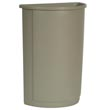 Rubbermaid [3520] Untouchable® Half Round Trash Container - 21 Gallon - Beige