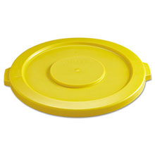 2631 Brute Round Trash Can Lid - 32 Gallon - Yellow