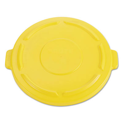 Brute Round Trash Can Self Draining Lid - 44 Gallon - Yellow