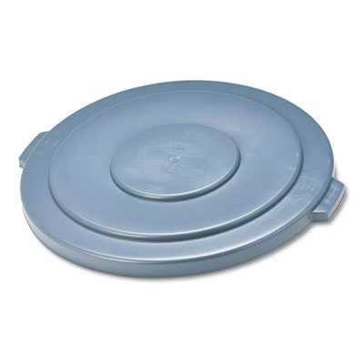 2654 Brute Round Trash Can Lid - 55 Gallon - Gray
