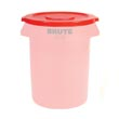 Rubbermaid [2631] Brute® Round Trash Can Lid - 32 Gallon - Red