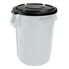 Rubbermaid [2645] Brute® Round Trash Can Self Draining Lid - 44 Gallon - Black