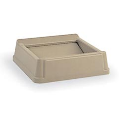 Rubbermaid [2664] Untouchable® Square Trash Can Swing Top Lid - 35/50 Gallon - Beige