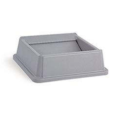Rubbermaid [2664] Untouchable® Square Trash Can Swing Top Lid - 35/50 Gallon - Gray