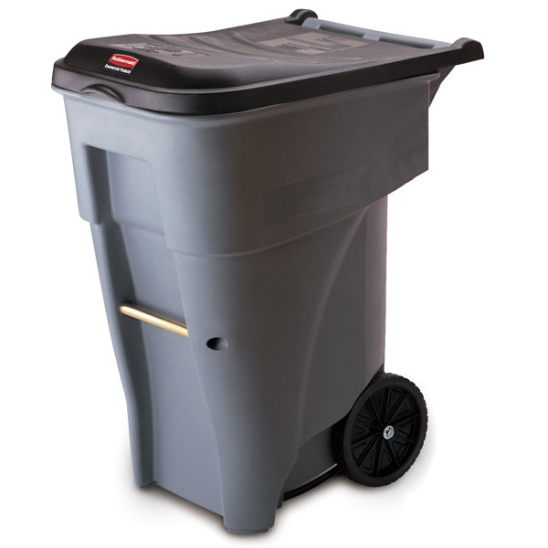 Rubbermaid BRUTE Giant Mobile Trash Container - 65 Gallon - Gray