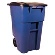 Rubbermaid [9W27] BRUTE® Mobile Rollout Trash Container - 50 Gallon - Blue