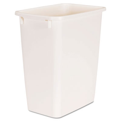 Open-Top Rectangular Plastic Wastebasket, Bisque - 5.25 Gallon