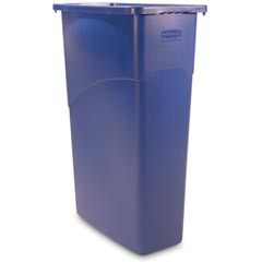 Rubbermaid [3540] Slim Jim® Rectangular Waste Container w/ Handles - 23 Gallon - Blue