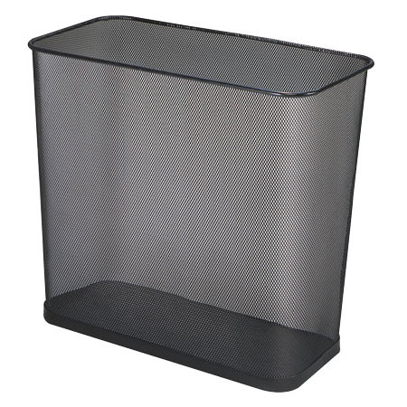 Steel Mesh Rectangular Wastebasket - 7.5 Gallon - 3 Pack RCPWMB30RBK