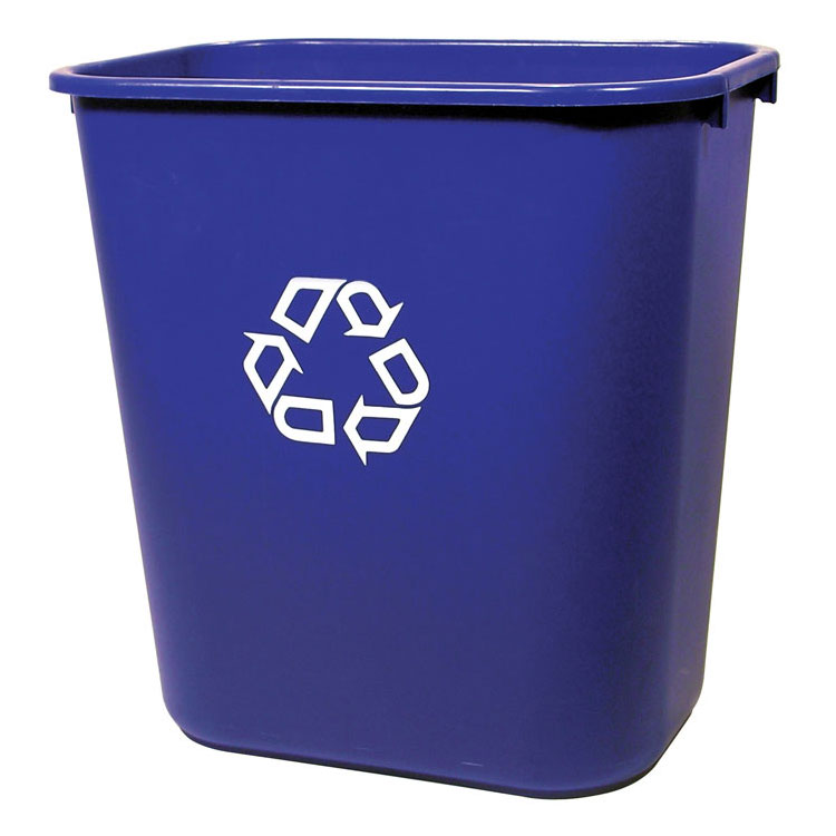 Rubbermaid Deskside Recycling Container - 28 1/8 qt.