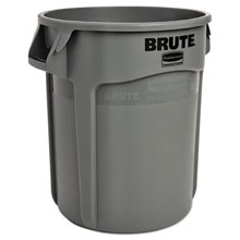 Brute Round Container - 10-Gallon Size - Gray