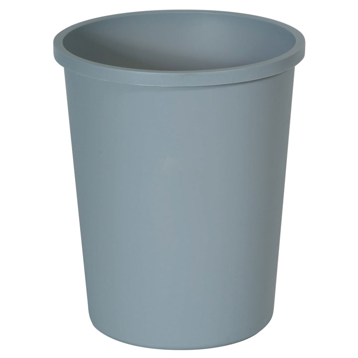 Rubbermaid Commercial Round Wastebasket - Gray
