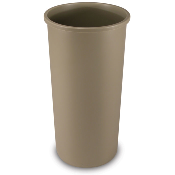 Rubbermaid Commercial 22-Gallon Round Container - Beige