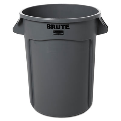BRUTE Round Trash Can - Gray - 32 Gallon