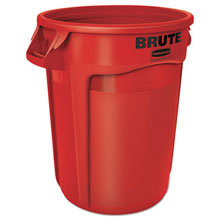 Brute Round Refuse Container - Red - 32 Gallon RCP2632RED