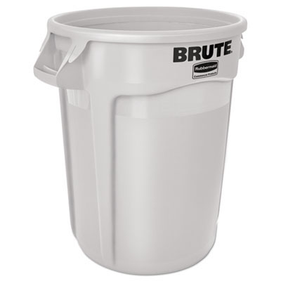 Brute Round Waste Container - White - 32 Gallon RCP2632WHI