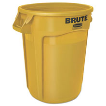 Brute Round Waste Container - Yellow - 32 Gallon RCP2632YEL